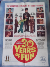 Thirty Years of Fun  Movie Poster, Charlie Chaplin, Laurel and Hardy, Garbo, '63